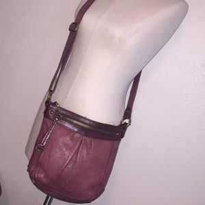 Fossil leather handbag crossbody